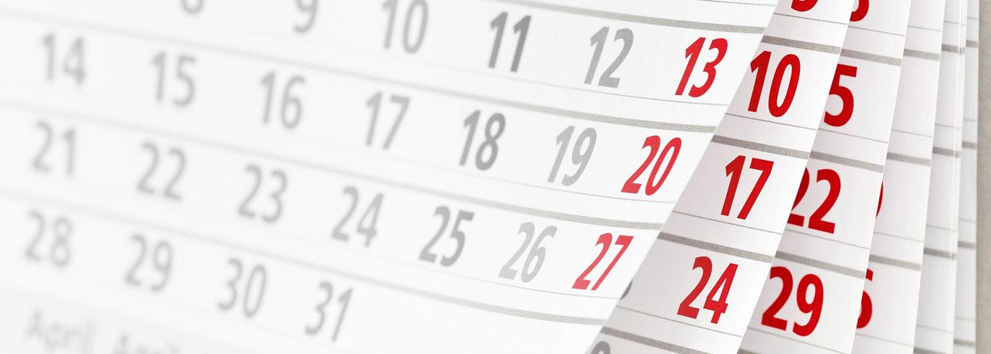 Календарь соревнований на 2020 год